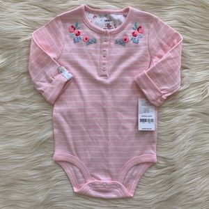 NWT! Carter's Girls Body Suit, Pink, 18 Months